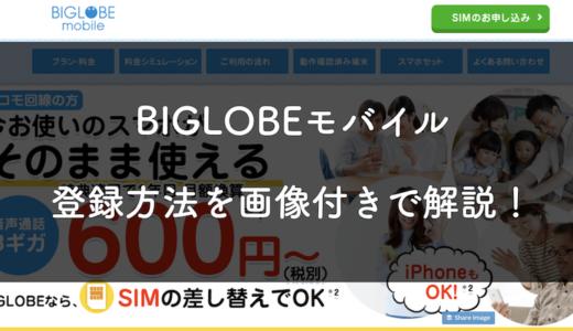 BIGLOBEモバイルの契約方法を画像付きで丁寧に解説!(SIMのみ)